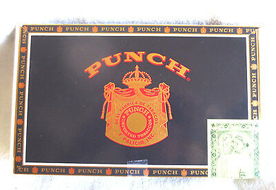 Punch Elites English Market Selection Cigar Box -  -Navy - Nice - Beautiful!