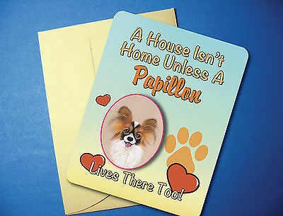 """A House Isn't Home"" - Papillon - Greeting Card / Blank Note Card - sku# AH-53"