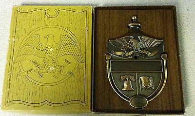 New Old Stock Engraveable BRASS EAGLE SHIELD DOOR KNOCKER FLAG LIBERTY BELL