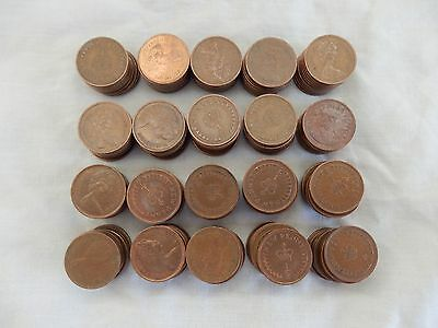 200 Half New Pence / Penny (1/2) Coins Mixed Used