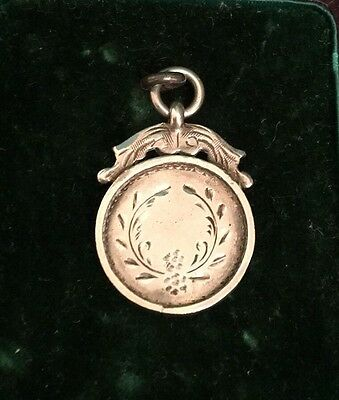 Antique Edwardian Hallmarked Sterling Silver Chester Ladies Watch Fob/pendant