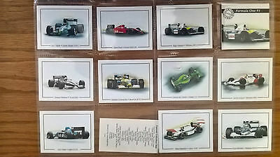 Victoria Gallery trade cards: Formula One 91 complete full set sleeves