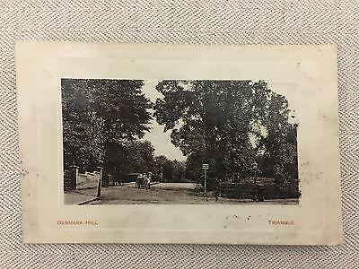 Denmark Hill, London Old Photographic Postcard Requesting A Date, Stamped 1908