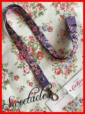 Bnwt Cath Kidston Lanyard Forest Ditsy Purple/lilac Free P&p