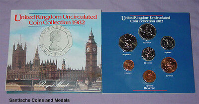 1982 Royal Mint Brilliant Uncirculated Set Of Coins For Gb & Ni