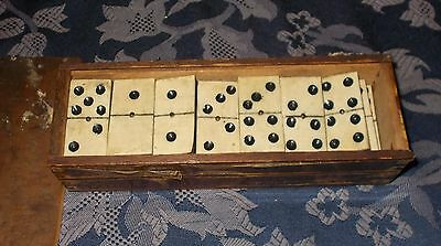 Antique   Dominoes --  Victorian  boxed  set  28