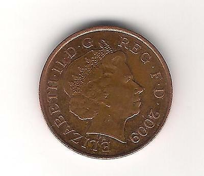 1p Coin one penny royal shield QEII Decimal UK 2009 used
