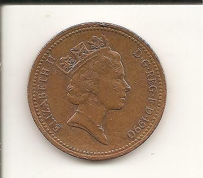 1p Coin one penny QEII Decimal UK 1990 used