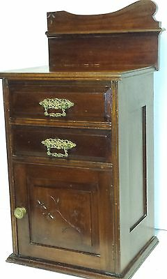 vintage 1900 Victorian nightstand / end / lamp table  Antique cheval hat box