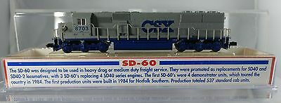 Atlas N Scale # 49011 SD-60 Locomotive CSX #8703- NOS-DCC Ready