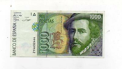 (A845)  Spain 1000 Pesetas Dated 12th October 1992