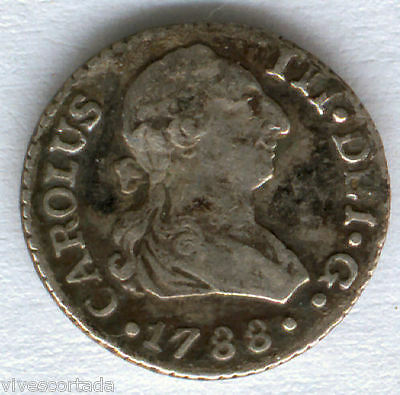 Carlos III 1/2 Real 1788 Seville C. @@ Very Bella @@
