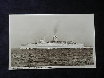 Vintage Shipping Postcard Canadian Pacific Liner Empress Of Britain
