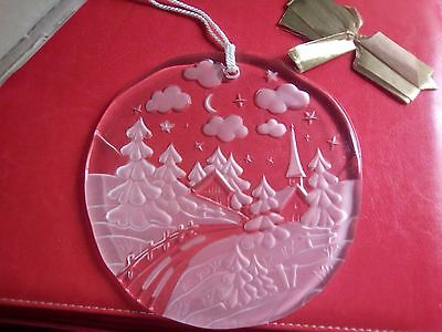 Walther glass Christmas plaque made in germany