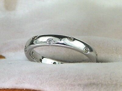 SW Sterling Silver .925 CZ-.24 tcw Eternity Band Fashion Ring-Size 7