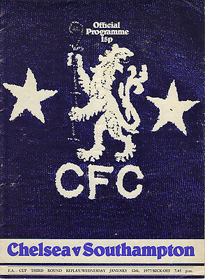 Chelsea v Southampton 1976/77 FA Cup 3rd round replay