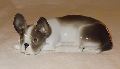 Antique German DRESDEN Figure of a French Bulldog