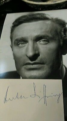Great 10x8 photo of Anton.Diffring plus a white signed card