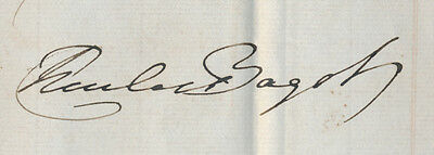 1842 Province of Canada Document Signed by Governor-General Sir Charles Bagot