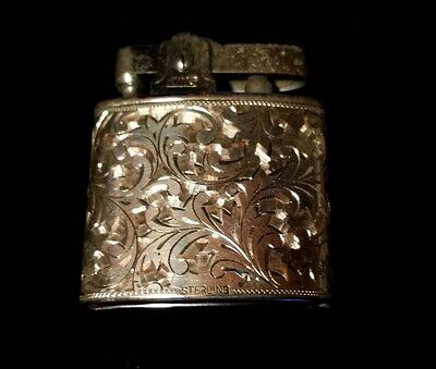 "Vintage ""KING"" Sterling Silver cigarette lighter  case"
