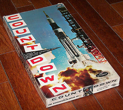 Unused 1967 COUNT DOWN Period NASA Space Age Board Game Apollo Saturn V Rocket