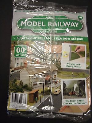 Your Model Railway Village Magazine No 40 workers cottage & green scatter