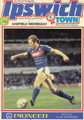 Ipswich Town v Sheffield Wednesday 1984/85 FA Cup 5th round