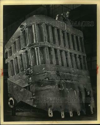 1964 Press Photo World's Largest Dipper Fabricated at Bucyrus-Erie Company