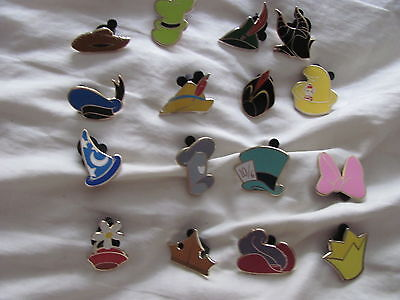 Disney Trading Pins Character Hats Complete Mystery set of 16 Pins