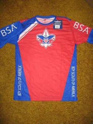Boy Scout Licensed Spf35 Jersey Shirt Youth Sz S M Bike Uniform New Made In Usa