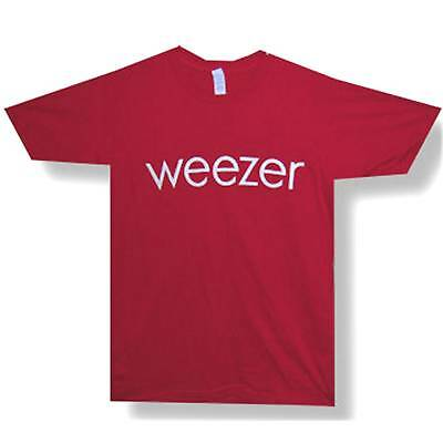 Weezer! Glow In The Dark Logo Red T-Shirt Small New!