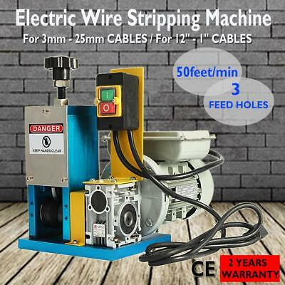Copper Wire Stripping Machine Electric Powered Cable Stripper w/ Feeding Panel