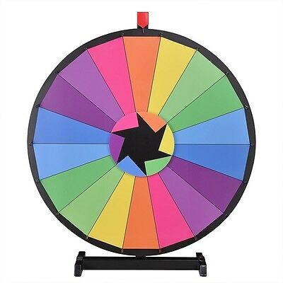 "WinSpin™ 30"" Tabletop Color Prize Wheel Fortune 18 Slot Halloween Spin Game New"