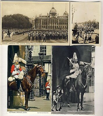 Royal Household Lifeguard Horseguards Cavalry Postcards Photo and Hanky WW2 -50s