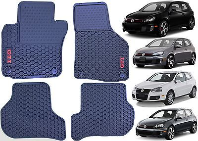 4pc Front & Rear Black MONSTER MATS For 2006-2013 Volkswagen GTI New Free Ship