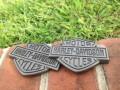 Harley OEM GRAY & BLACK Sportster DYNA SOFTAIL TOURING FUEL GAS Tank Emblems