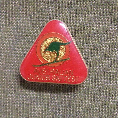 #d290.  Australian Junior Ski Test   Lapel  Badge