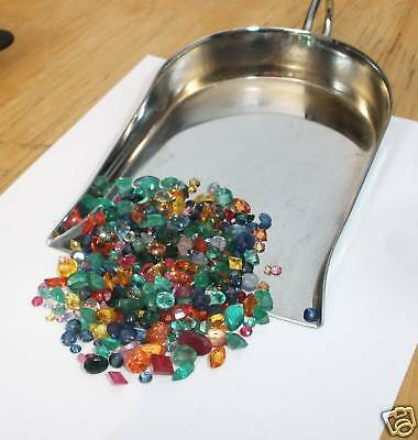 Rubies, Sapphires and Emerald Gem Mix Loose Parcel Over 25 Carats