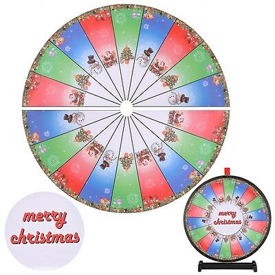 "WinSpin™ Portable 24"" Prize Wheel Template Replacement 8 Holiday Christmas Theme"