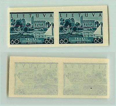 Lithuania, 1940, SC 316, MNH, imperf, pair. f2679