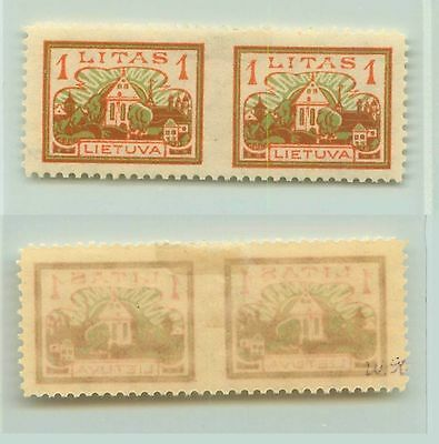 Lithuania, 1923, SC 171, mint, missing perforation, pair. f2644