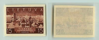 Lithuania, 1940, SC 314, mint, imperf, color proof. f2671