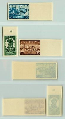 Lithuania, 1940, SC 314-316, MNH, imperf. f2670
