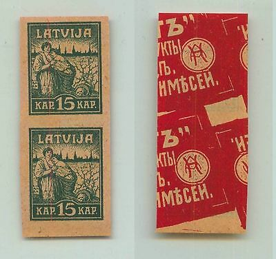 Latvia, 1919, SC 44, MNH, proof, special paper, pair. f2958
