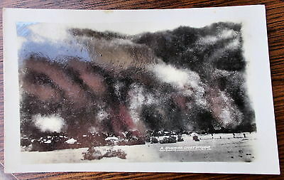 Vintage postcard New South Wales  Real Photo Dust Storm  Riverina Hay?