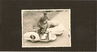 Isle Of Man Tt  1961  A Deubels No 3 Motorcycle And Side Car  Photograph
