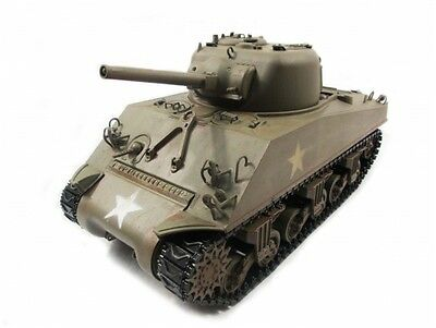 Mato 1:16 Complete 100% Metal M4A3(75)W Sherman Tank(Army Green,Ready to Run)