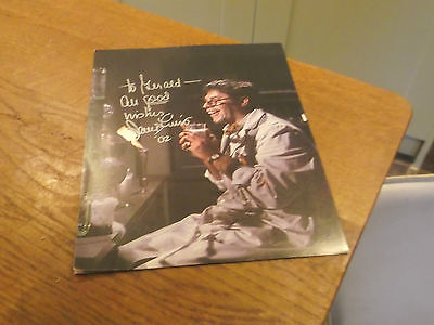 Autographed Jerry Lewis Hand Signed Pic  & Envelope It Came In With Lewis Logo