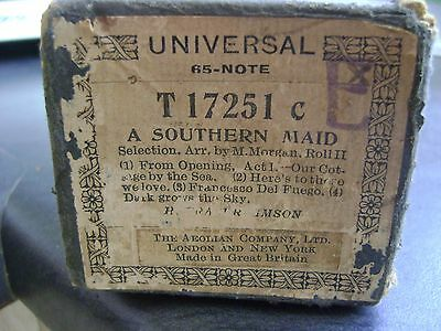UNIVERSAL 65 NOTE T17251c A SOUTHERN MAID SELECTION ( H FRASER-SIMSON )  ROLL II