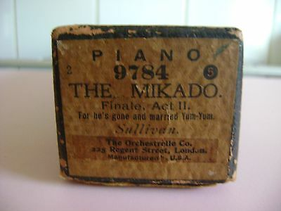 """The Mikado Finale Act Ii """"for He's Gone And Married Yum-Yum""""  9784 Piano Roll"""